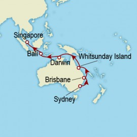 Sydney to Singapore World Sector Cunard Cruise