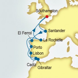 Spain and Portugal and France P&O Cruises UK Cruise