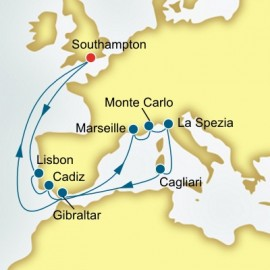 France Monaco and Italy P&O Cruises UK Cruise