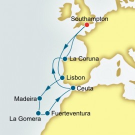 Portugal and Canary Islands and Spain P&O Cruises UK Cruise