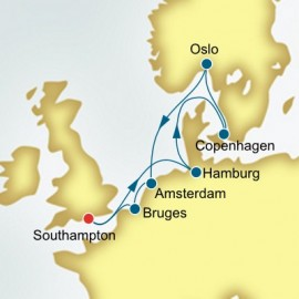 Germany and Denmark and Norway P&O Cruises UK Cruise