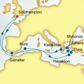 Spain and Greece P&O Cruises UK Cruise