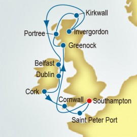 Scotland and Ireland and Guernsey P&O Cruises UK Cruise