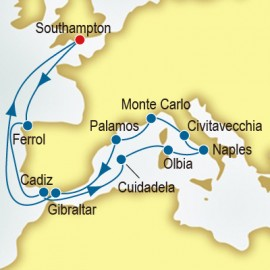 Spain and Italy and Monaco P&O Cruises UK Cruise
