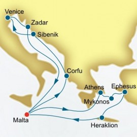 Greece Malta and Croatia P&O Cruises UK Cruise