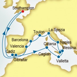 Spain and Malta and Italy P&O Cruises UK Cruise