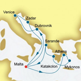 Greece Turkey and Malta P&O Cruises UK Cruise