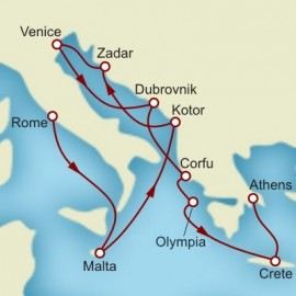 Rome Venice and Athens Cunard Cruise
