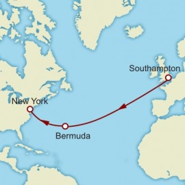 Southampton to New York World Sector Cunard Cruise