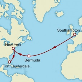 Southampton to Fort Lauderdale World Sector Cunard Cruise