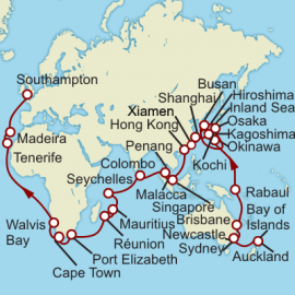 World Cruise Auckland to Southampton Sector Cruise