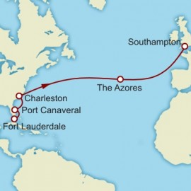 Eastbound Transatlantic Crossing from Fort Lauderdale Itinerary