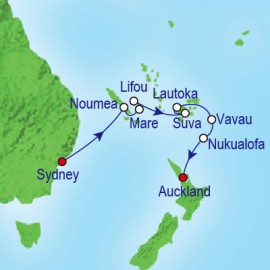 South Pacific and Tonga Itinerary