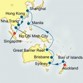 Auckland to Singapore World Sector Cruise