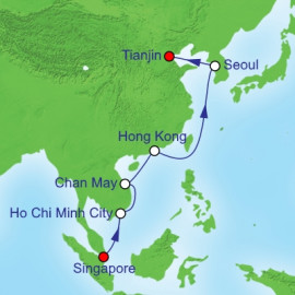 China Repositioning Itinerary