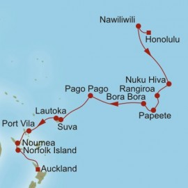 Honolulu To Auckland Oceania Cruises Cruise