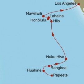 Papeete to Los Angeles Oceania Cruises Cruise