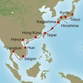 Homage to the Orient  Itinerary