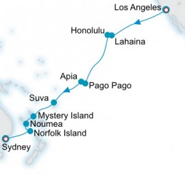 Pacific Sojourn Itinerary