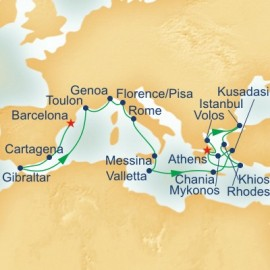 Western Mediterranean and Greek Isles Collection Itinerary