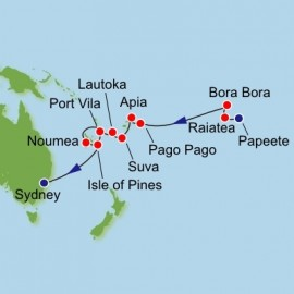 French Polynesia and South Pacific Itinerary
