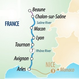 Sensations of Southern France River Itinerary