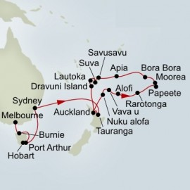 Australia and Pacific Explorer Collector Holland America Line Cruise