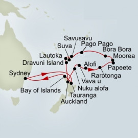 Pacific Explorer Itinerary