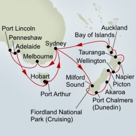 New Zealand and South Australia Discovery Collector Holland America Line Cruise