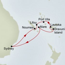 Pacific Treasures Itinerary