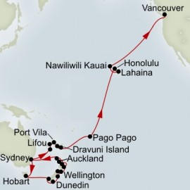 New Zealand and South Pacific Collector Holland America Line Cruise