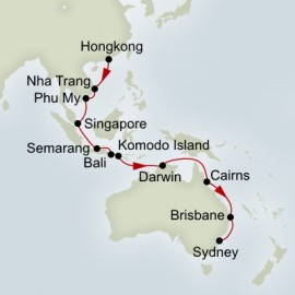 Hong Kong to Sydney World Sector Holland America Line Cruise
