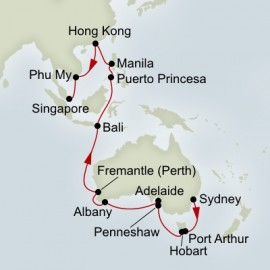 Sydney to Singapore World Sector Holland America Line Cruise