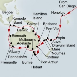 South Pacific and Australia Circumnavigation Collector Itinerary
