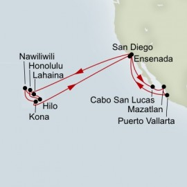 Mexican Riviera and Circle Hawaii Collectors Itinerary