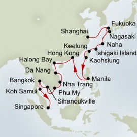 Taiwan Japan and Far East Discovery Collector Holland America Line Cruise