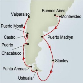 South America and Antarctica Explorer Holland America Line Cruise