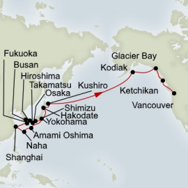 Japan South Korea and North Pacific Crossing Itinerary