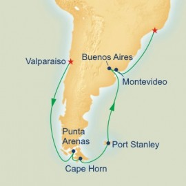 Cape Horn Route to Rio Itinerary