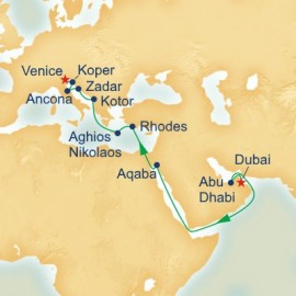 World Cruise Segment Middle East and Mediterranean Itinerary