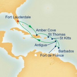 Eastern Caribbean Voyager Itinerary