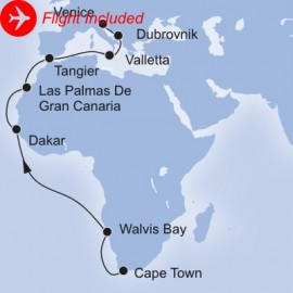 South Africa To Mediterranean Fly Itinerary
