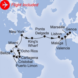 Caribbean to Mediterranean Fly Itinerary
