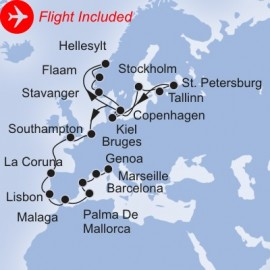Grand European Fly Itinerary