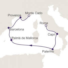 Rome to Monte Carlo Itinerary