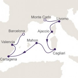 Monte Carlo to Barcelona Itinerary