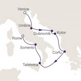Venice to Rome Itinerary