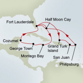 Western and Eastern Caribbean Collector Holiday Itinerary