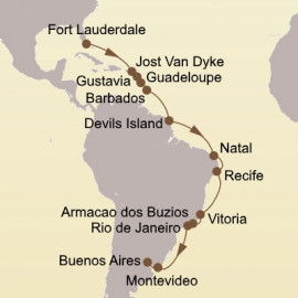 Caribbean and Brazilian Exploration Seabourn Cruise