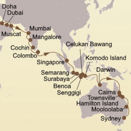 Seasons Of The Southern Cross Itinerary